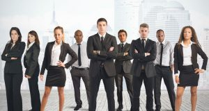 21393443 - concept of business team with businessman and businesswoman